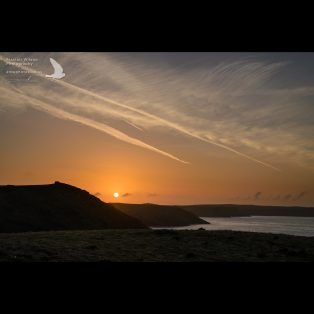 Skomer Sunrise looking across to Pembrokeshire