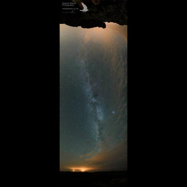 Overhead Milky way panorama