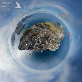 Little Planet 360 of Bird Island