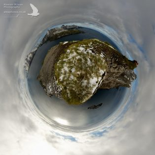 Little Planet panorama image at Farewell Point
