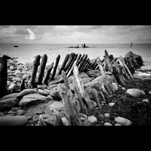 Llanrhystud beach defense
